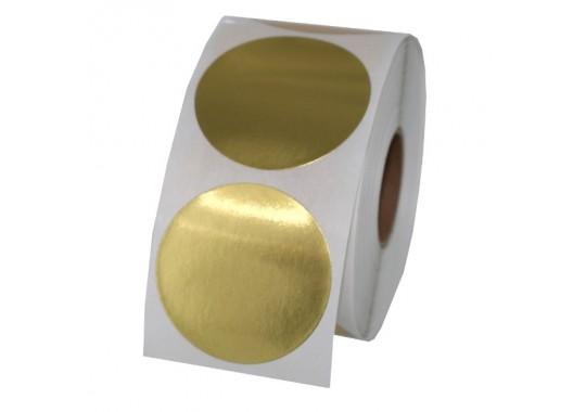 Etikety na kotúči 25x25 mm (VxŠ), zlaté, 3000 ks, 40, IN, kruh