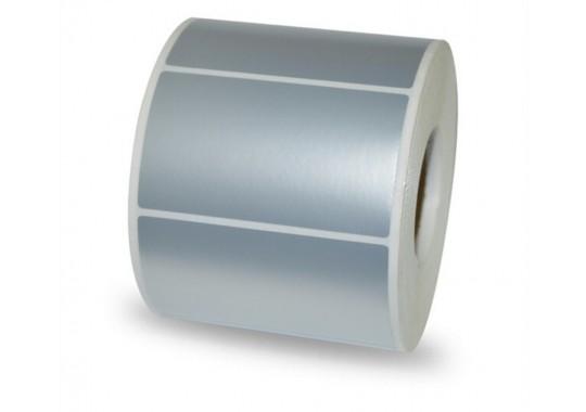 Etikety na kotúči 25x50 mm (VxŠ), strieborné, 3000 ks, 40, IN