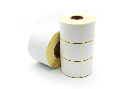 Etikety na kotúči 60x90 mm (VxŠ), biele pololesklé, 900 ks, 40, IN