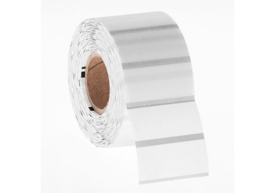 Etikety na kotúči 80x80 mm (VxŠ), priesvitné plastové, 700 ks, 40, IN