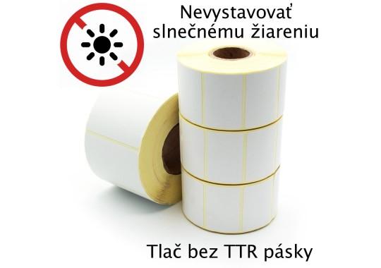 Etikety na kotúči 80x58 mm (VxŠ), biele, 300 ks, 40, OUT, termoetikety