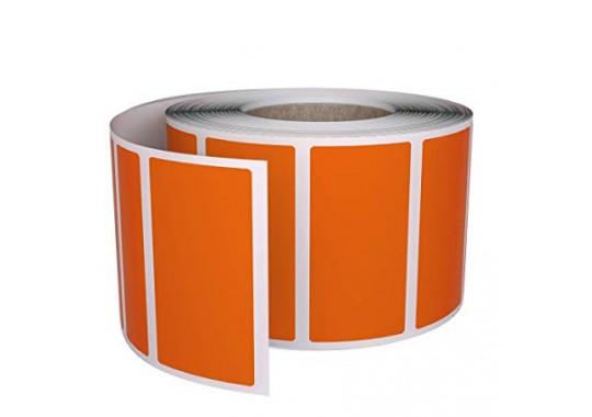 Etikety na kotúči 50x70 mm (VxŠ), oranžové, 2000 ks, 76, OUT