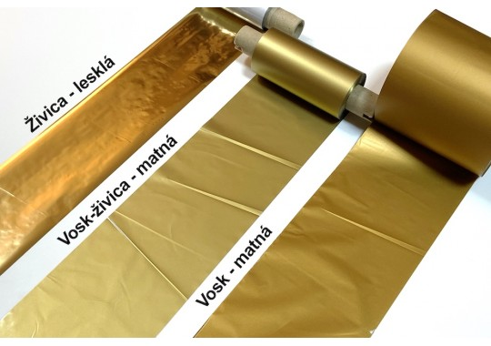 Armor TTR páska 70x91m WRI-C zlatá matná OUT vosk/živica 0,5 dutinka