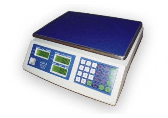 ACS-A digitálna váha 6/15kg, IP-52 voda a prach, bez stĺpika, RS232 , s overením