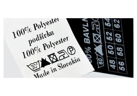 Potlač nylónovej textilnej etikety 3x4cm po 1000ks