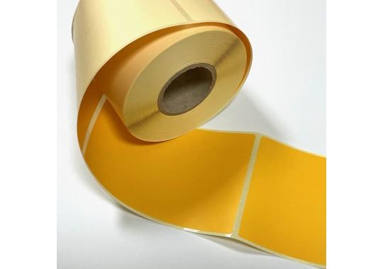 Etikety na kotúči 120x80 mm (VxŠ), žlté, 400 ks, 40, IN