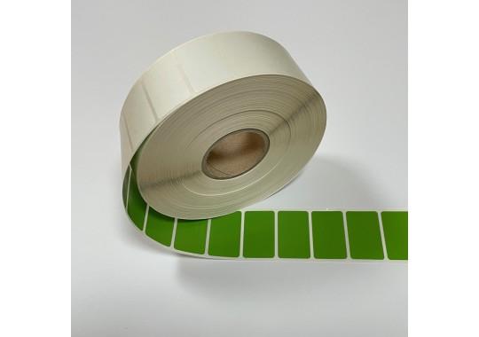 Etikety na kotúči 22x37 mm (VxŠ), zelené plastové, 3000 ks, 40, IN