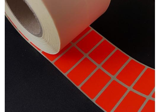 Etikety na kotúči 15x28 mm (VxŠ), červené, 5000 ks, 40, IN, 2P