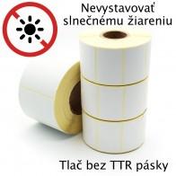 Etikety na kotúči 90x60 mm (VxŠ), biele, 500 ks, 40, OUT, termoetikety, silné lepidlo