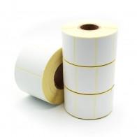 Etikety na kotúči 90x60 mm (VxŠ), biele pololesklé, 700 ks, 40, IN
